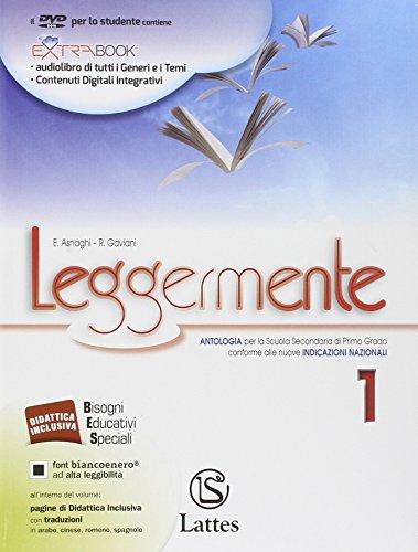 9788880428626: Leggermente. Il mito e l'epica-Libro delle competenze. Con espansione online. per le Scuole superiori. Con DVD ROM