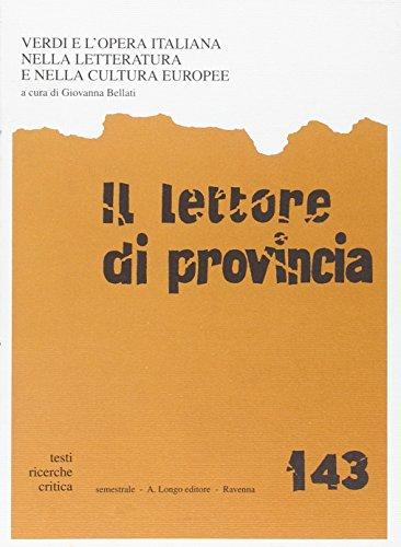 Il lettore di provincia. Vol. 143: Verdi