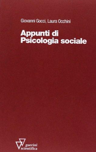 9788881070688: Appunti di psicologia sociale