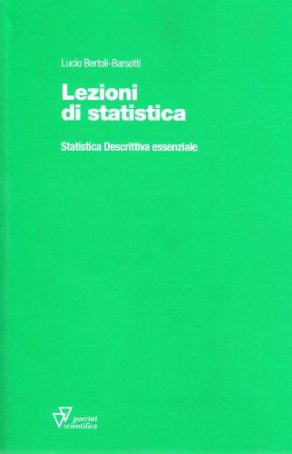 9788881071227: Lezioni di statistica. Statistica descrittiva essenziale