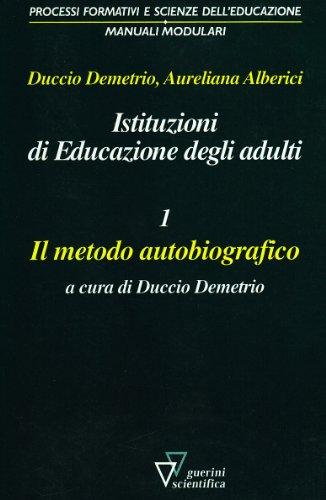 9788881071289: Istituzioni di educazione degli adulti: 1