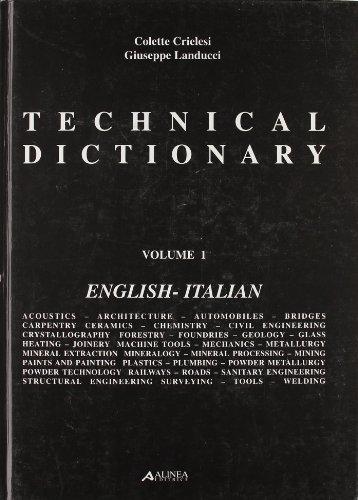 9788881253531: Technical dictionary-Dizionario tecnico. Con CD-ROM (Manuali)