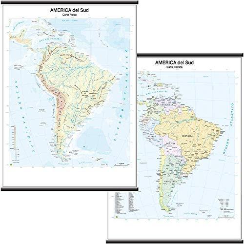 America Sud scolastica murale 1:10.000.000.