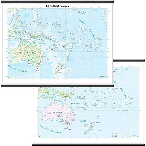 9788881463015: Oceania scolastica murale (fisico-politica) 1:11.000.000