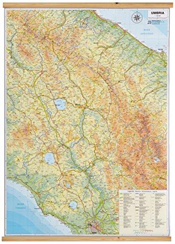 9788881465743: Umbria carta - 61x85cm / 1:300.000