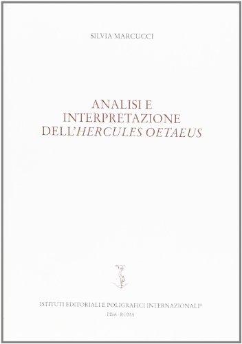 9788881471287: Analisi e interpretazione dell'Hercules Oetaeus (Nuovi saggi) (Italian Edition)