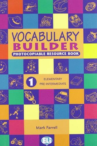 9788881485550: Vocabulary Builder: Photocopiables - volume 1