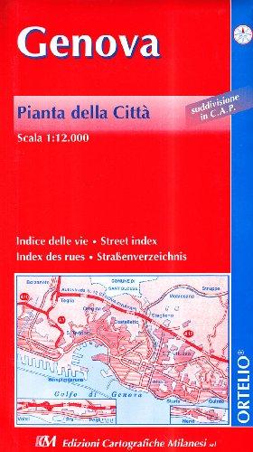 9788881510108: Genova con codici postali. Carta geografica stradale con aree codici postali (carta murale plastificata)
