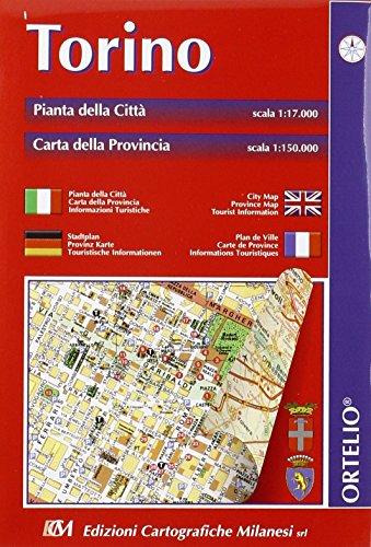 9788881510368: Torino. Pianta della città 1:17.000. Carta della provincia 1:150.000