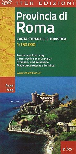 9788881770755: Provincia di Roma. Carta turistica e automobilistica 1:150.000 (Carte stradali)