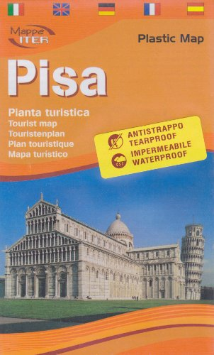 9788881771851: Pisa Tourist Map (Laminated) in English by Lozzi (English, Spanish, French, Italian and German Edition)