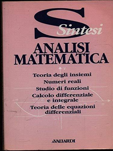 9788882112349: Analisi matematica