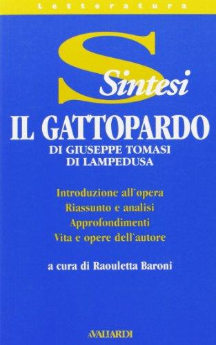9788882116231: Tomasi di Lampedusa. Il Gattopardo (Sintesi)