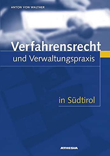 9788882662356: Verfahrensrecht und Verwaltungspraxis in Südtirol