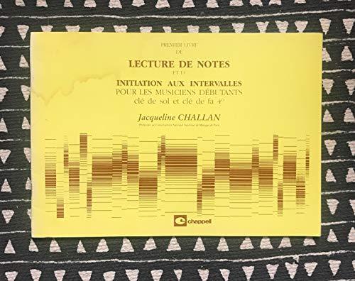 9788882911140: Premier livre de lecture de notes et d'Initiation aux intervalles pour les musiciens débutants - clé de sol et de fa 4°