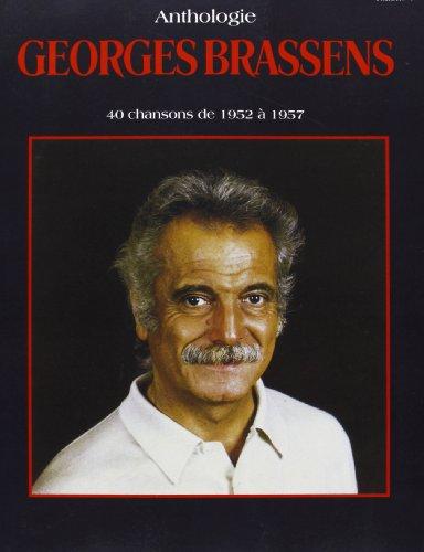 9788882913663: George Brassens Anthologie, 40 chansons de 1952 à 1957