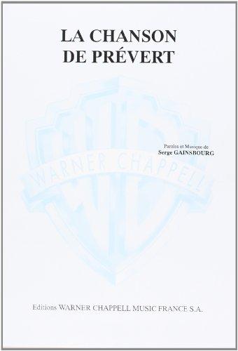 9788882915551: Gainsbourg : La Chanson de Prévert - Format - Carisch