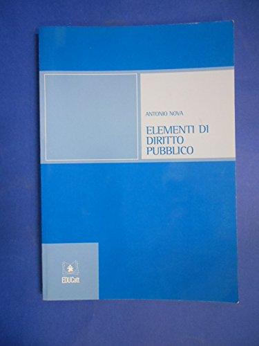 Elementi di diritto pubblico: Antonio Nova