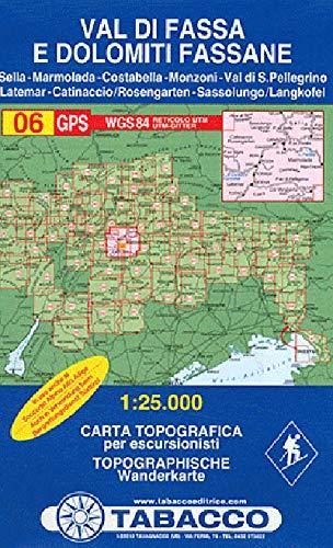 9788883150067: Val di Fassa. Dolomiti fassane 1:25.000 (Carte topografiche per escursionisti)
