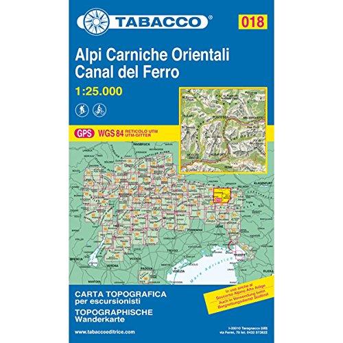9788883150180: Alpi Carniche orientali. Canal del Ferro 1:25.000 (Carte topografiche per escursionisti)