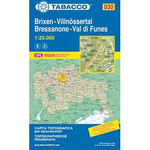 9788883150302: Bressanone. Val di Funes 1:25.000 (Carte topografiche per escursionisti)
