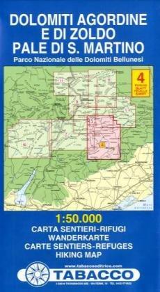 9788883150425: Dolomiti agordine e di Zoldo. Pale di San Martino 1:50.000 (Carte sentieri-rifugi)