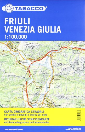 9788883150630: Stra�enkarte Friuli Venezia Giulia: Stra�enkarte Tabacco. 1:100000