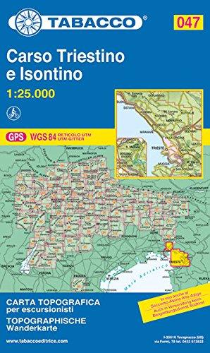 9788883150685: Carso triestino e isontino 1:25.000: 047