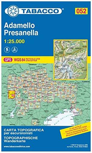 9788883150876: Adamello, Presanella 1:25.000 (Carte topografiche per escursionisti)
