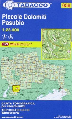 9788883150937: Piccole Dolomiti-Pasubio. 1:25.000 Ediz. italiana e tedesca: 056