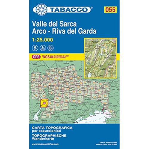 9788883150975: Valle del Sarca, Arco - Riva del Garda 055 GPS 2013: TAB.055