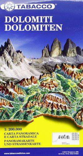 9788883150982: Dolomiti. Carta stradale e panoramica in scala 1:200.000. Ediz. italiana e tedesca (Carte stradali e panoramiche)