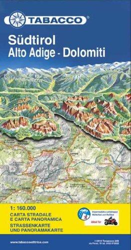 9788883151002: South Tirol / Alto Adige / Dolomites Road Map & Panoram. Map 2013: TAB.MB.03