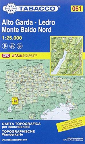 9788883151057: Alto Garda / Ledro 061 Monte Baldo North 2015: TAB.061