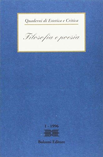 QUADERNI DI ESTETICA E CRITICA, 1: FILOSOFIA