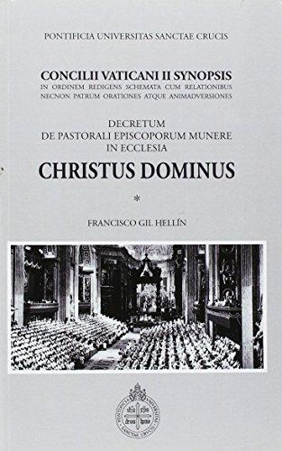 9788883332968: Christus dominus Concilii Vaticani II synopsis