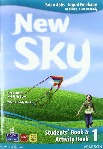 9788883390135: New sky. Student's book-Activity book-Sky reader. Con espansione online. Con CD Audio. Per la Scuola media: 1