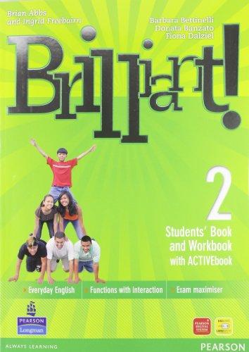 9788883390432: Brilliant! Ediz. pack. Student's book-Workbook-Culture book. Per la Scuola media. Con DVD-ROM. Con espansione online: 2