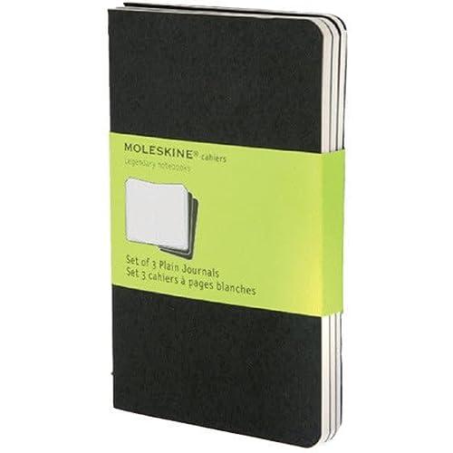 9788883704918: Moleskine Cahier pocket. Plain. Black Cover. 3er Pack