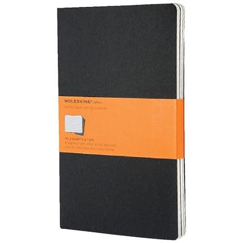 9788883704956: Moleskine Cahier large. Ruled. Black Cover. 3er Pack