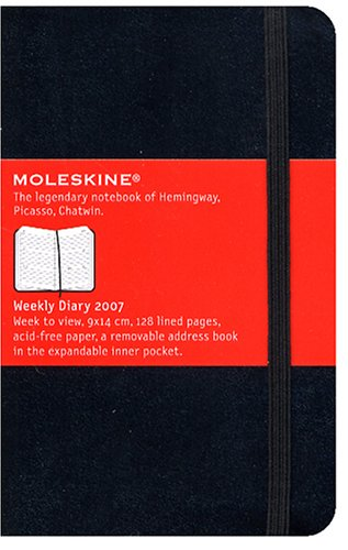 9788883705915: Moleskine Pocket Diary 2007: Weekly