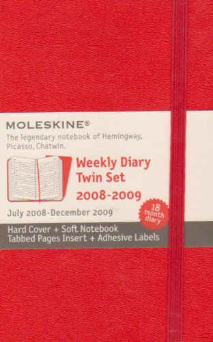 9788883707476: Moleskine Weekly Planner 18 Month Red Twin Set
