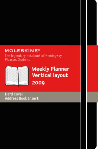 9788883707582: 2009 Moleskine Large Weekly Diary Vertical