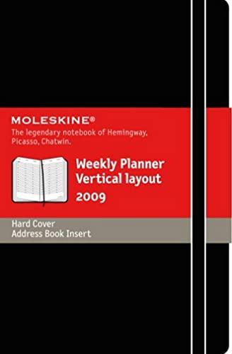 9788883707582: Agenda semainier vertical - Grand format - Couverture rigide noire - 13 x 21 cm