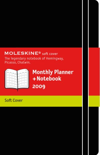 9788883707612: 2009 Moleskine Xlarge Monthly Notebook 12 Months