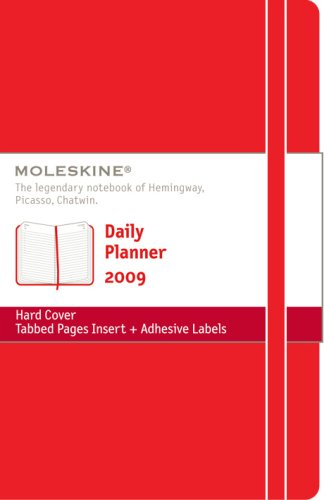 9788883707636: Moleskine Daily Planner 12 Months Hard Red Cover Large