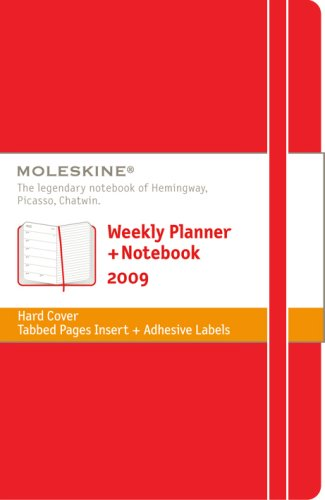 9788883707643: 2009 Moleskine Pocket Red Weekly Notebook 12mth (Moleskine Diaries)