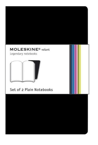 9788883708534: Moleskine Volant Pocket Plain Black 2-set