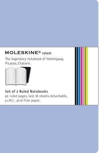 9788883708602: Carnet volant ligne grand format set 2 couv. souple bleu (Moleskine Volant)