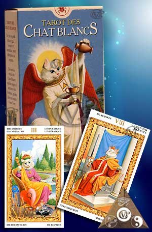 9788883953378: Tarot des Chats Blancs (scarabeo)